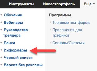 Информеры форекс календарь на сайт советник форекс терминатор скачать бесплатно